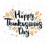 Lettering greeting cards with text Happy Thanksgiving day Royalty Free Stock Photography