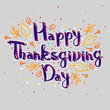Lettering greeting cards with text Happy Thanksgiving day Stock Photography