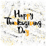 Lettering greeting cards with text Happy Thanksgiving day Royalty Free Stock Photo