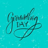 Lettering. Groundhog Day. Stock Photography