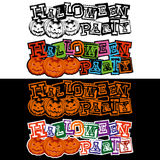 Lettering halloween Royalty Free Stock Photography