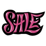 Lettering handlettering sale in magenta Royalty Free Stock Photography