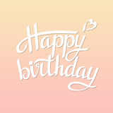 Lettering happy birthday. On white background.Illustration Royalty Free Stock Image
