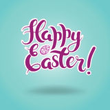 Lettering Happy Easter Stock Photos
