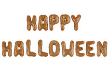 Lettering Happy Halloween Royalty Free Stock Photos
