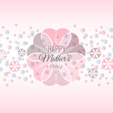 Lettering Happy Mothers Day card Stock Image