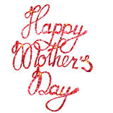 Lettering Happy Mothers Day tinsels Stock Photos