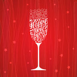 Lettering happy new year Stock Image