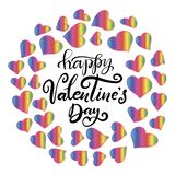 Lettering for happy Valentines day stock illustration