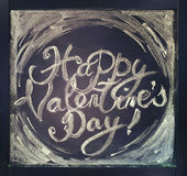 Lettering Happy Valentines Day. Toned effect Royalty Free Stock Photo