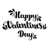 Lettering Happy Valentines Day  on white background. Vector illustration for Valentine`s Day. Stock Photo