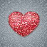 Lettering Heart Valentines Card Royalty Free Stock Images
