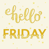 Lettering Hello Friday Royalty Free Stock Photo