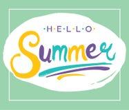 Lettering Hello Summer. Stock Image