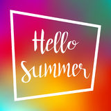 Lettering Hello Summer. Vector Illustration Royalty Free Stock Photography
