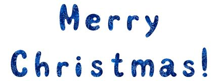 Lettering holiday Merry Christmas Royalty Free Stock Image