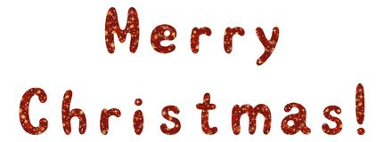 Lettering holiday Merry Christmas Royalty Free Stock Photo