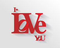 Lettering I LOVE YOU. Royalty Free Stock Image