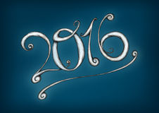 Lettering 2016 Stock Image