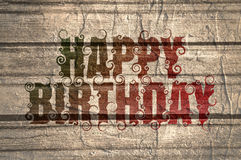 Lettering illustration with Happy Birthday text. Royalty Free Stock Image