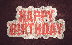 Lettering illustration with Happy Birthday text. Stock Images
