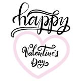 Lettering for happy Valentines day royalty free illustration