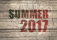 Lettering illustration with word summer. Stock Photos