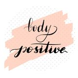 Lettering inscription body positive. Vector royalty free illustration