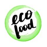 Lettering inscription eco food. vector illustration