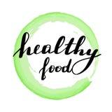 Lettering inscription healthy food. royalty free illustration