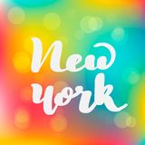 Lettering inscription New York. Vector royalty free illustration