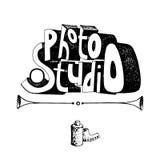 Lettering inscription photo studio hand drawn. Vector illustration Royalty Free Stock Image