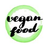 Lettering inscription vegan food. stock illustration