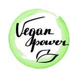 Lettering inscription vegan power. vector illustration