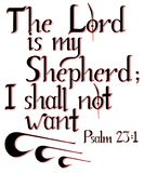 Lettering `the Lord is my Shepherd` stock illustration