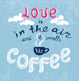 Lettering Love in the air Royalty Free Stock Photography