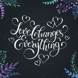Lettering about love Royalty Free Stock Photo