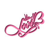 Lettering LOVE. For themes like Mother`s Day, Valentine`s Day, holidays. Stock Photos