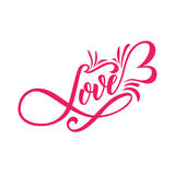 Lettering LOVE. For themes like Mother`s Day, Valentine`s Day, holidays. Stock Image