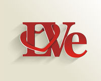 Lettering LOVE. Royalty Free Stock Images