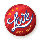 Lettering. Make Love Not War Royalty Free Stock Image