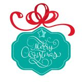 Lettering Merry Christmas card vector Illustration Stock Photo