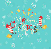 Lettering - merry Christmas. Royalty Free Stock Image