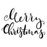 Lettering with Merry Christmas. Stock Photos