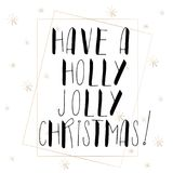 Lettering with Merry Christmas. Stock Photography