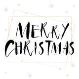 Lettering with Merry Christmas. Royalty Free Stock Photo