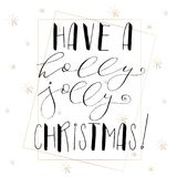 Lettering with Merry Christmas. Stock Photo