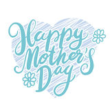 Lettering for Mother`s Day card. Stock Image