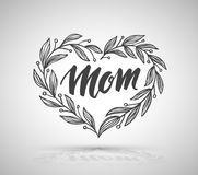 Lettering for Mother`s Day card. Stock Images