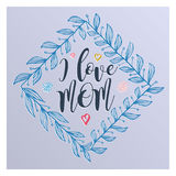 Lettering for Mother`s Day card. Royalty Free Stock Images